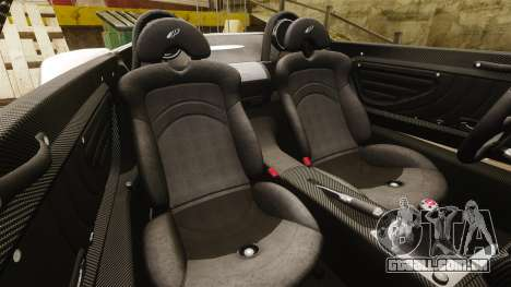 Pagani Zonda C12S Roadster 2001 v1.1 PJ4 para GTA 4 vista lateral