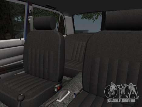 VAZ 21061 para GTA San Andreas vista superior