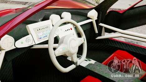 Pagani Zonda Autosport para GTA 4 vista direita