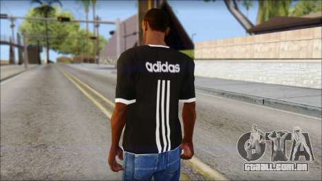 Adidas Black T-Shirt para GTA San Andreas segunda tela