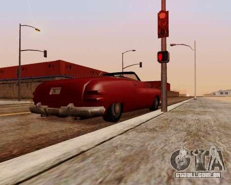 Hermes Conversível para GTA San Andreas traseira esquerda vista