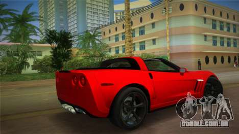 Chevrolet Corvette 2010 para GTA Vice City deixou vista