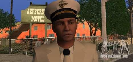 Navy Officer para GTA San Andreas terceira tela