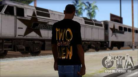 Two and a half Men Fan T-Shirt para GTA San Andreas segunda tela
