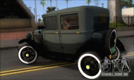 Ford T 1927 para GTA San Andreas traseira esquerda vista