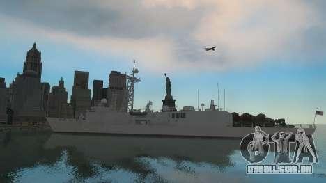 U.S. Navy frigate para GTA 4 traseira esquerda vista