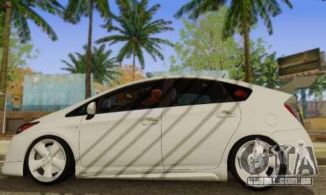 Toyota Prius Tunable para GTA San Andreas traseira esquerda vista