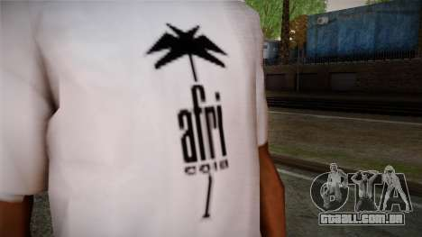Afri Cola White Shirt para GTA San Andreas terceira tela