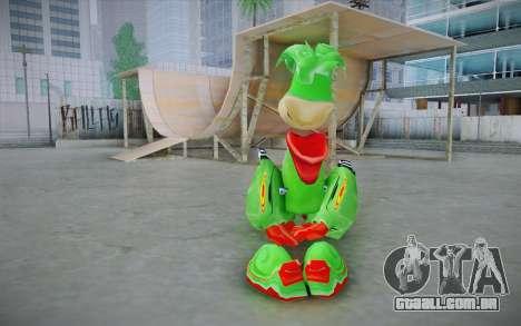 Vortex Rayman Skin para GTA San Andreas segunda tela