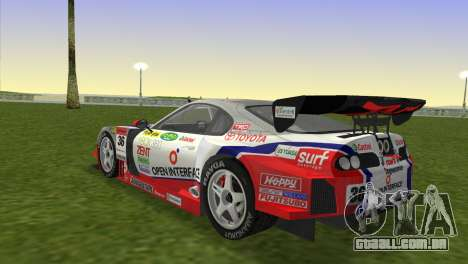 Toyota Supra RZ JZA80 Super GT Type 6 para GTA Vice City deixou vista