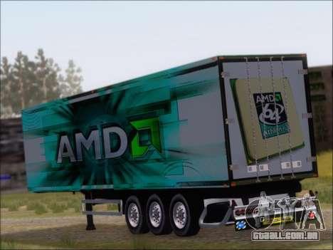 Trailer AMD Athlon 64 X2 para GTA San Andreas traseira esquerda vista