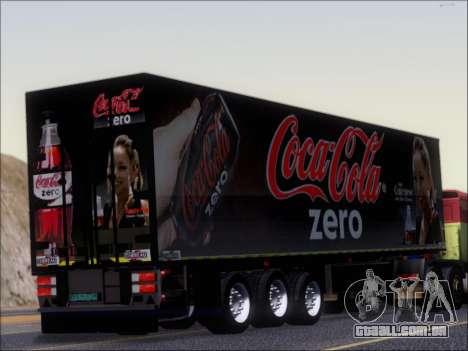 Trailer Chereau Coca-Cola Zero Caminhão para GTA San Andreas vista direita