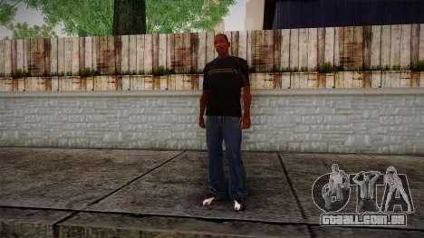 Black RX T-Shirt para GTA San Andreas terceira tela