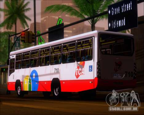 Neobus Mega IV - TCA (Araras) para GTA San Andreas traseira esquerda vista