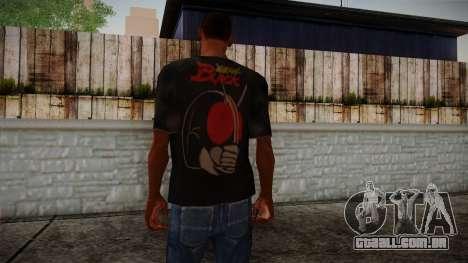 Black RX T-Shirt para GTA San Andreas segunda tela
