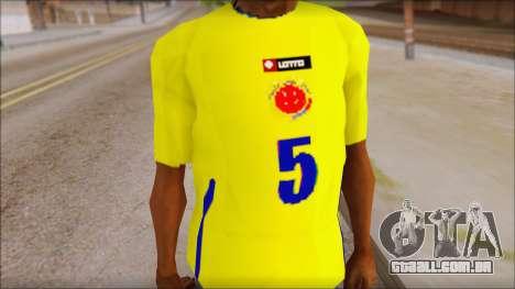 T-Shirt Colombia para GTA San Andreas terceira tela