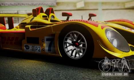 Porsche RS Spyder Evo 2008 para GTA San Andreas vista inferior