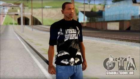 A7X Deathbats Fan T-Shirt Black para GTA San Andreas