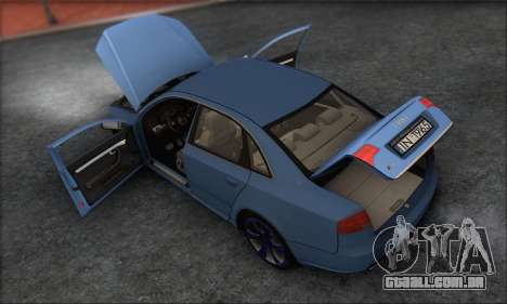 Audi S4 4.0 Quattro 2006 para GTA San Andreas vista inferior
