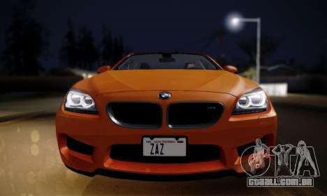 BMW M6 F13 2013 para GTA San Andreas traseira esquerda vista