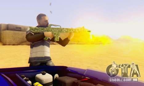 Camo M16 para GTA San Andreas segunda tela