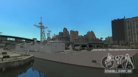 U.S. Navy frigate para GTA 4 esquerda vista