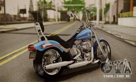 Harley-Davidson FXSTS Springer Softail para GTA San Andreas esquerda vista