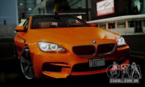 BMW M6 F13 2013 para GTA San Andreas vista inferior