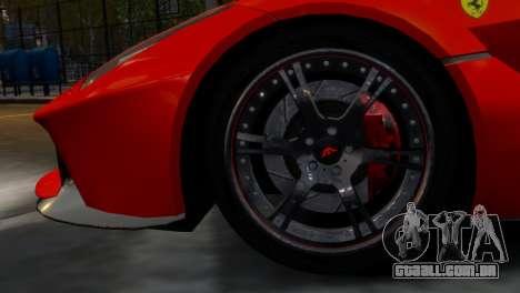 Ferrari LaFerrari WheelsandMore Edition para GTA 4 vista de volta