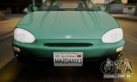 Mazda MX-3 para GTA San Andreas traseira esquerda vista