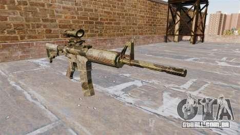 Automatic carbine ME Camuflagem Flora para GTA 4
