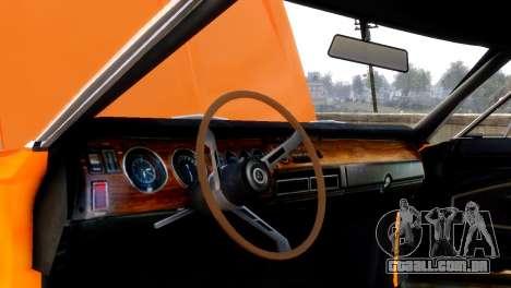 Dodge Charger RT 1970 para GTA 4 vista de volta