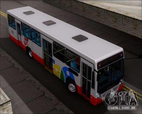 Neobus Mega IV - TCA (Araras) para GTA San Andreas vista superior