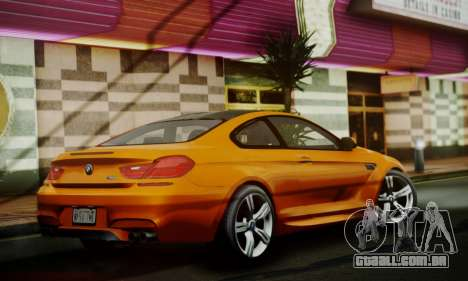 BMW M6 F13 2013 para GTA San Andreas vista traseira