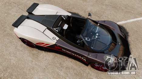 Pagani Zonda C12S Roadster 2001 v1.1 PJ4 para GTA 4 vista direita