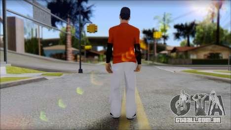 Polera Naranja con Gorro para GTA San Andreas segunda tela