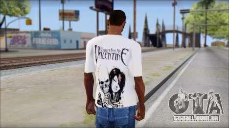 BFMV Russian Roulette T-Shirt para GTA San Andreas segunda tela