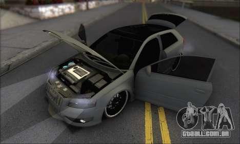Audi S3 2006 Custom para GTA San Andreas vista inferior