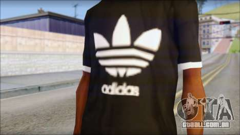 Adidas Black T-Shirt para GTA San Andreas terceira tela
