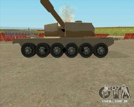 Dozuda.s Primary Tank (Rhino Export tp.) para GTA San Andreas vista traseira