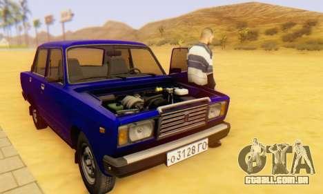 VAZ 2107 Estoque para GTA San Andreas interior