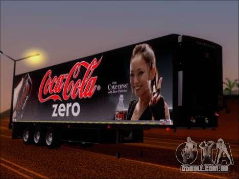 Trailer Chereau Coca-Cola Zero Caminhão para GTA San Andreas esquerda vista