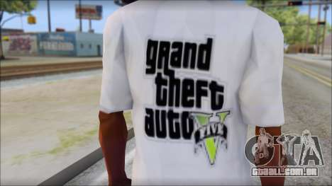 GTA 5 Fan T-Shirt para GTA San Andreas terceira tela