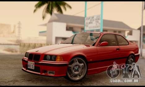 BMW M3 E36 1994 para GTA San Andreas traseira esquerda vista