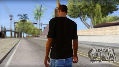 Black Izod Lacoste T-Shirt para GTA San Andreas segunda tela