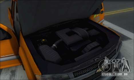 Chevrolet Colorado Cleaning para GTA San Andreas interior