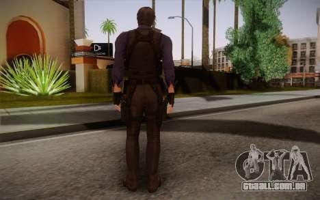 Leon Kennedy from Resident Evil 6 para GTA San Andreas segunda tela