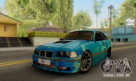 BMW M3 E36 Coupe Blue Star para GTA San Andreas