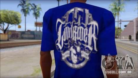 Lowrider Blue T-Shirt para GTA San Andreas terceira tela