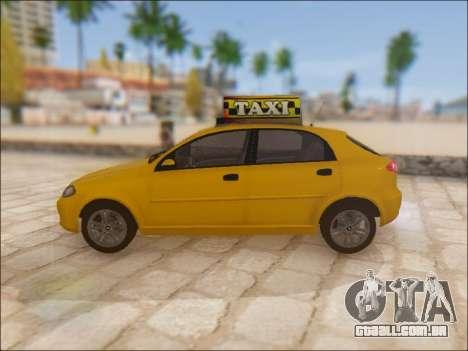 Chevrolet Lacetti Taxi para GTA San Andreas esquerda vista